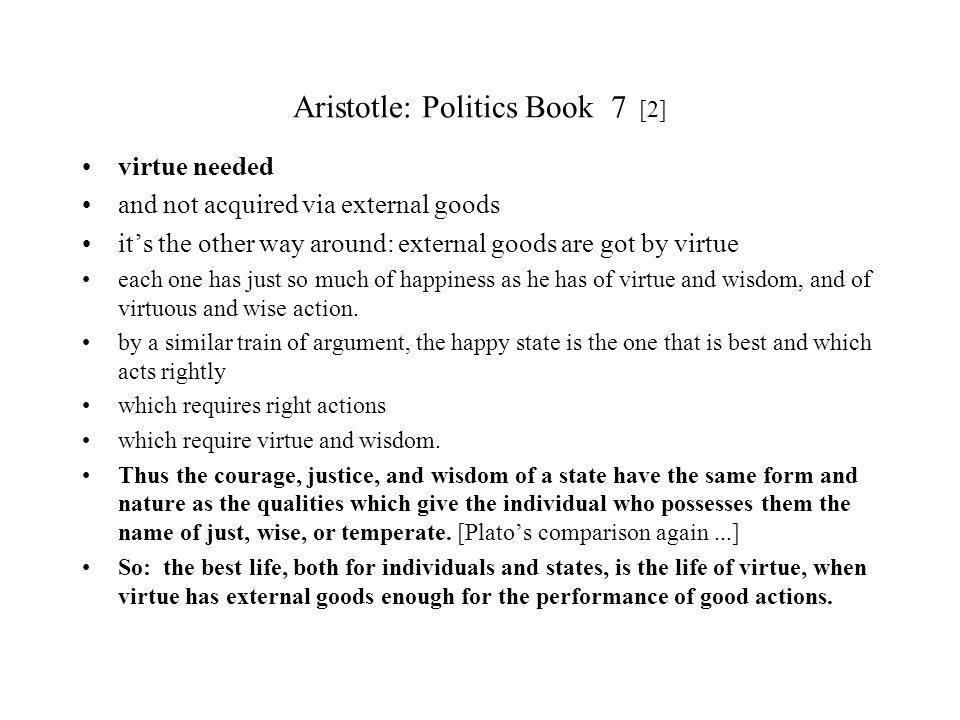 Aristotle: Politics Book 7 [2]